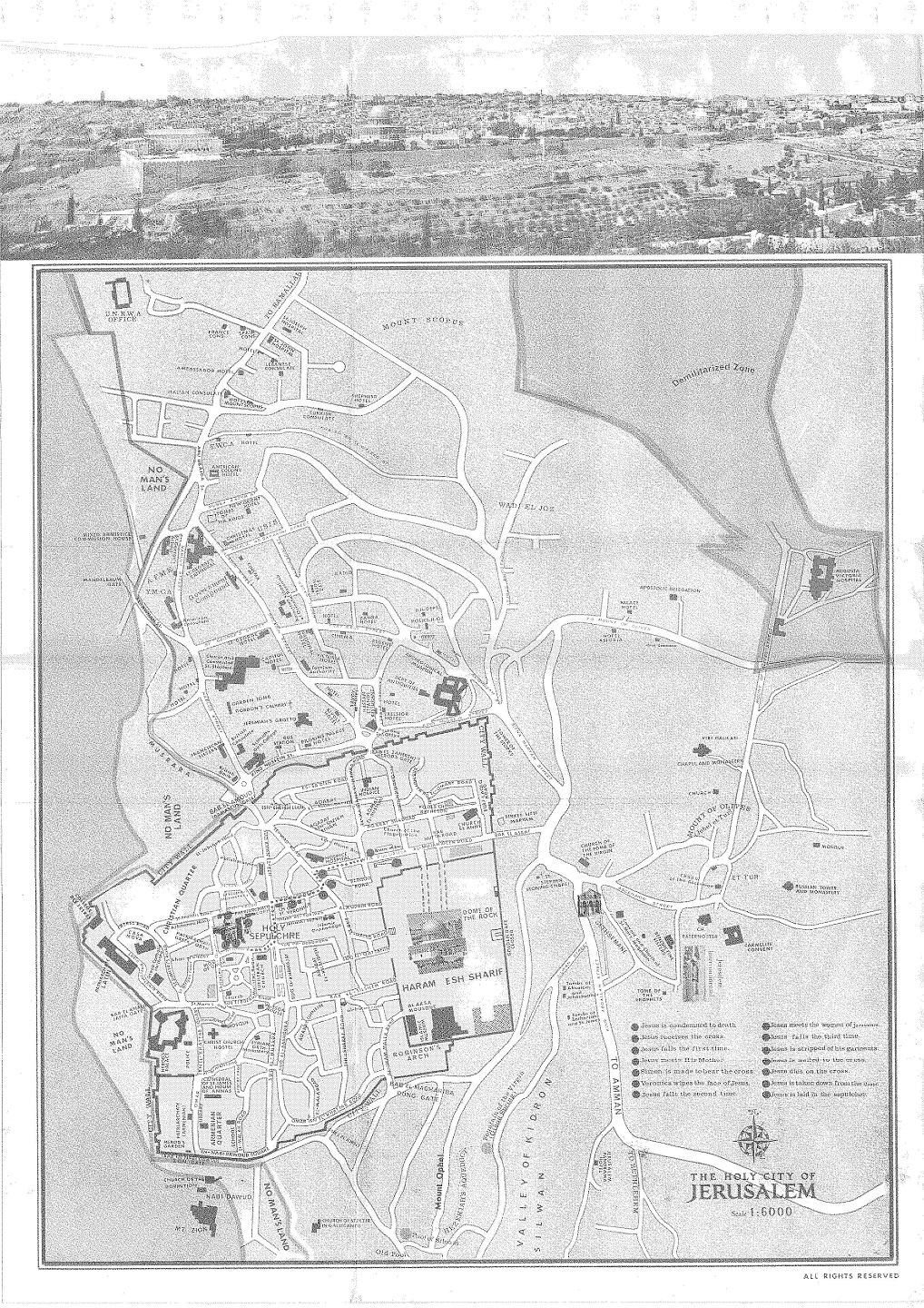Outtakes of a UFO Investigator Israel in the 1960s – Tourist Map Of Jerusalem